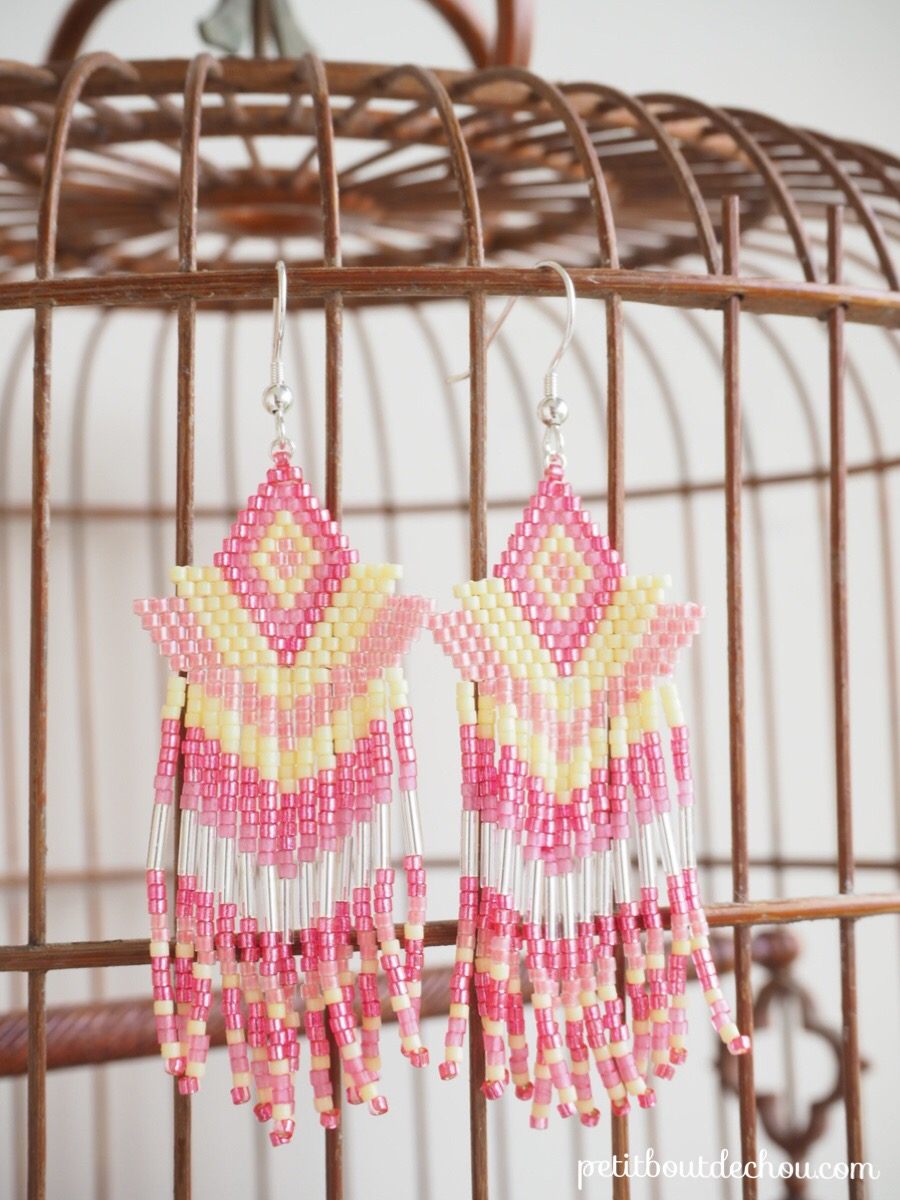 miyuki fringes earrings finished