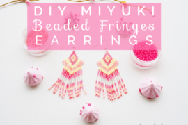 Title miyuki beaded fringes earrings