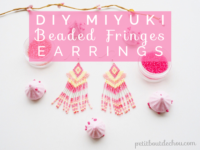 DIY Miyuki Beaded Fringes Earrings
