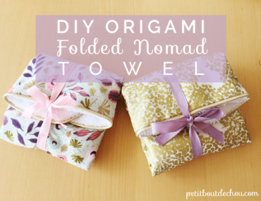 Title DIY origami folded nomad towel