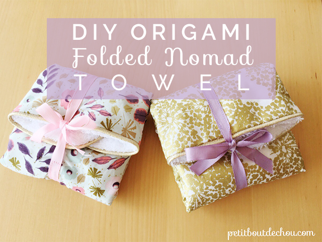 DIY: Origami Folded Nomad Towel