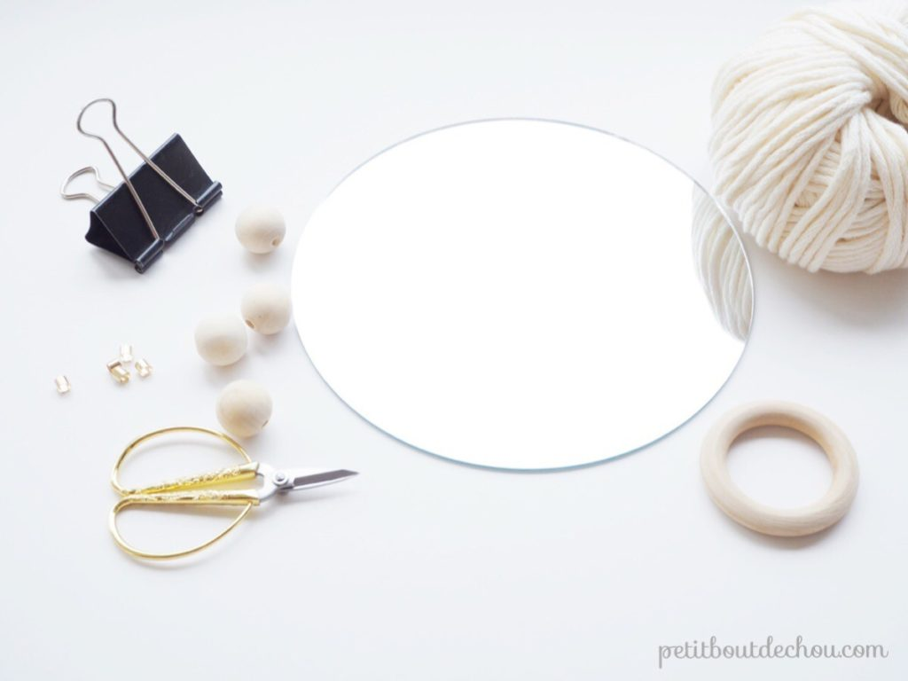 Miroir suspension macrame - supplies needed