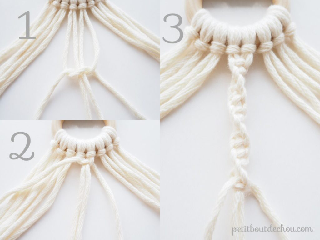 Tuto d co suspension miroir en macram petit bout de chou - Faire macrame suspension ...