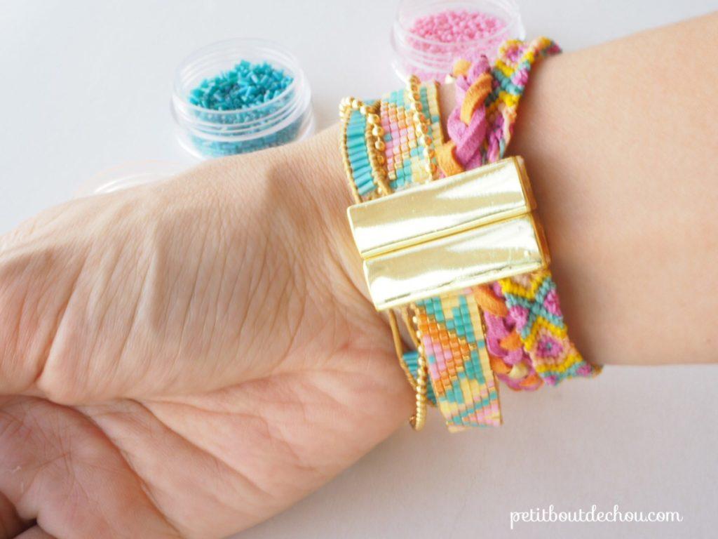Bracelet miyuki multi-rangs 17