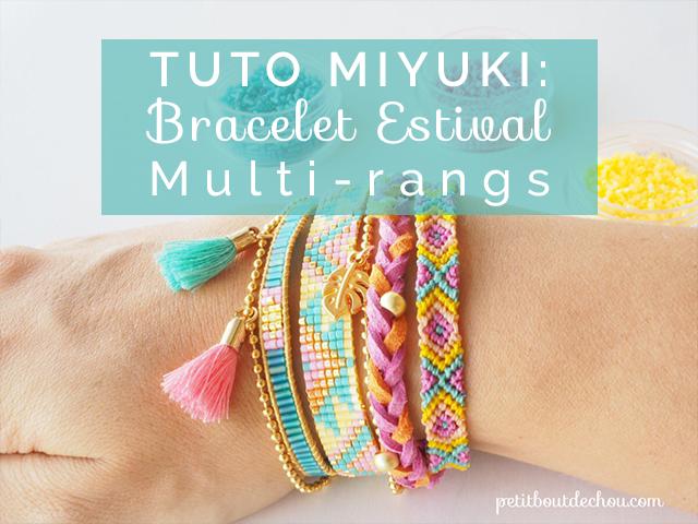 Bracelet miyuki multi,rangs