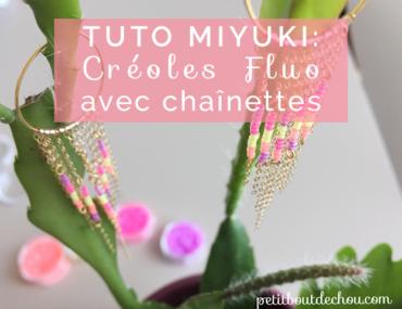 creoles fluo Miyuki 8