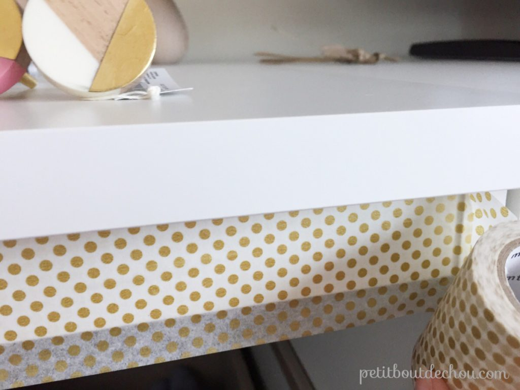 upper drawer masking tape