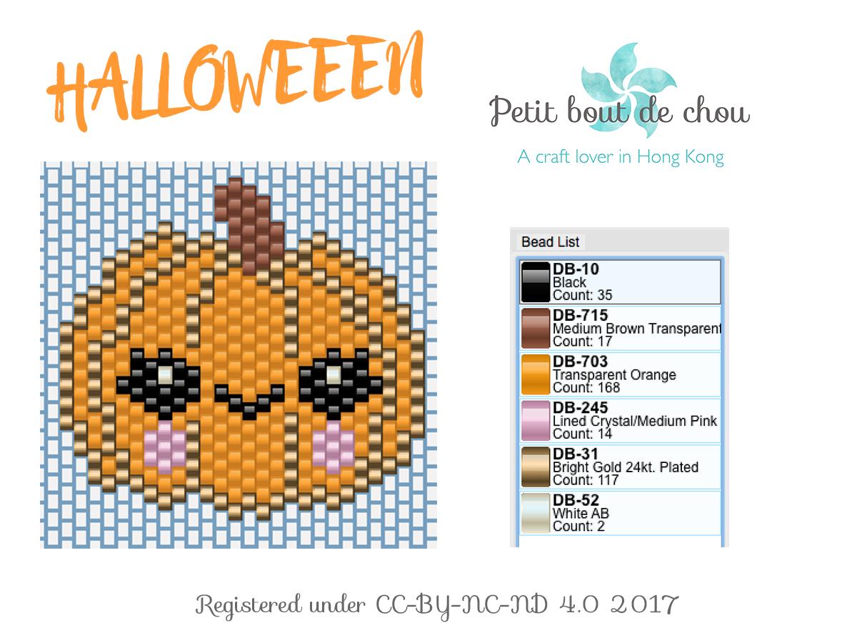 Halloween grille miyuki CITROUILLE kawai