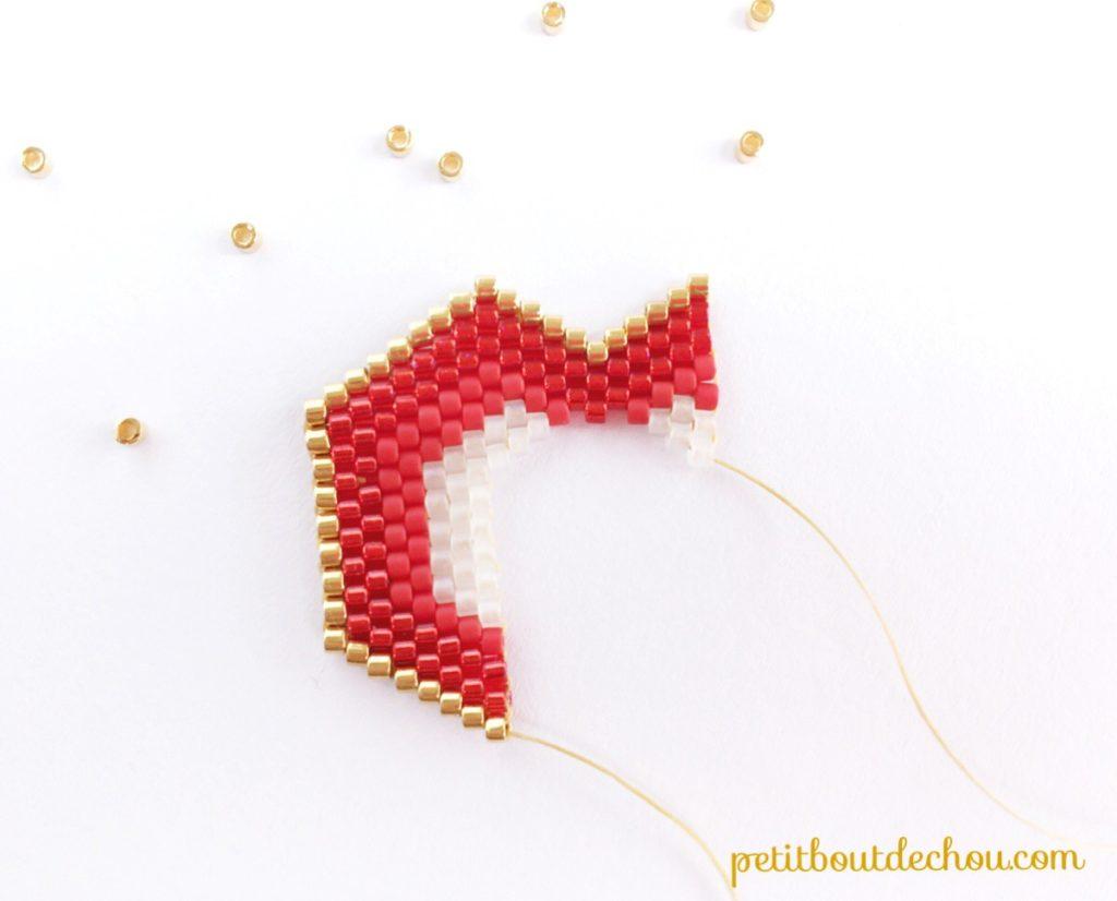 pendentif coeur ajouré miyuki 5