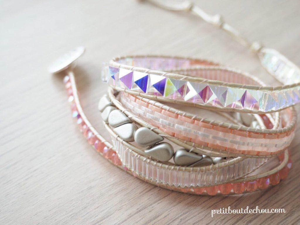 bracelet wrap miyuki tila spike beads