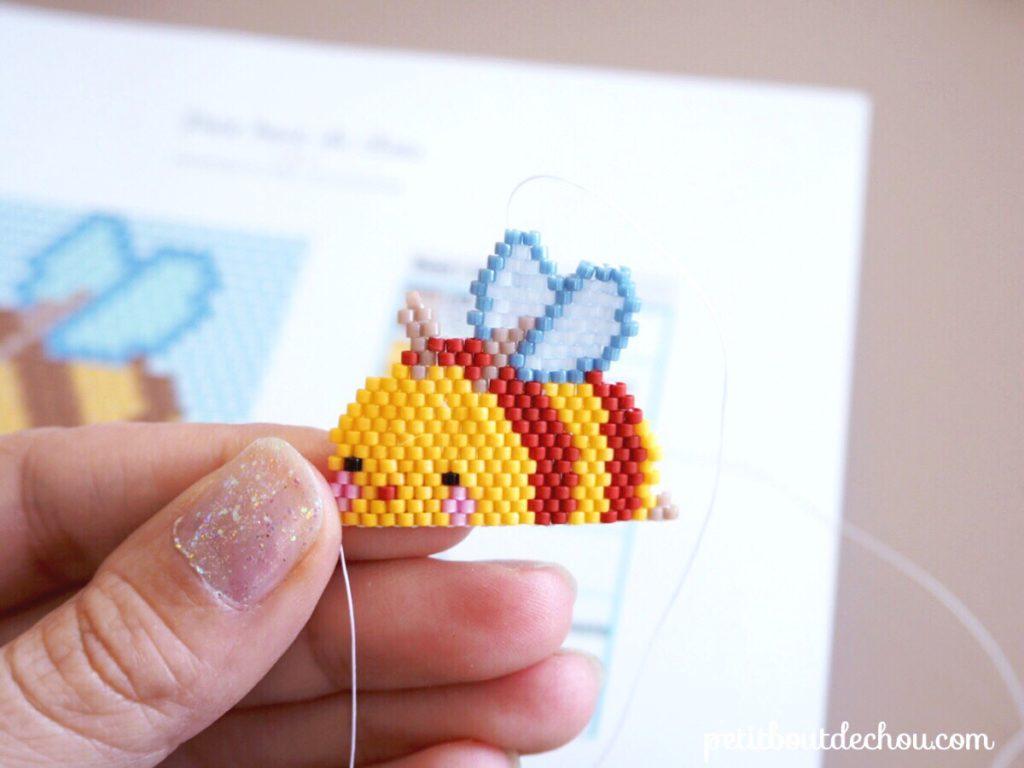 Petite abeille kawaii miyuki brick stitch 2