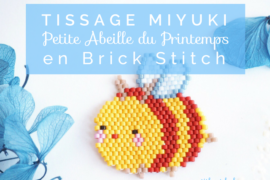 Petite abeille kawaii miyuki brick stitch