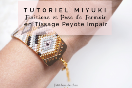 title peyote bracelet pose embout fermoir tutoriel