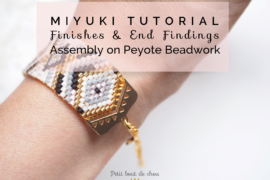 title peyote beadwork finishes & end findings