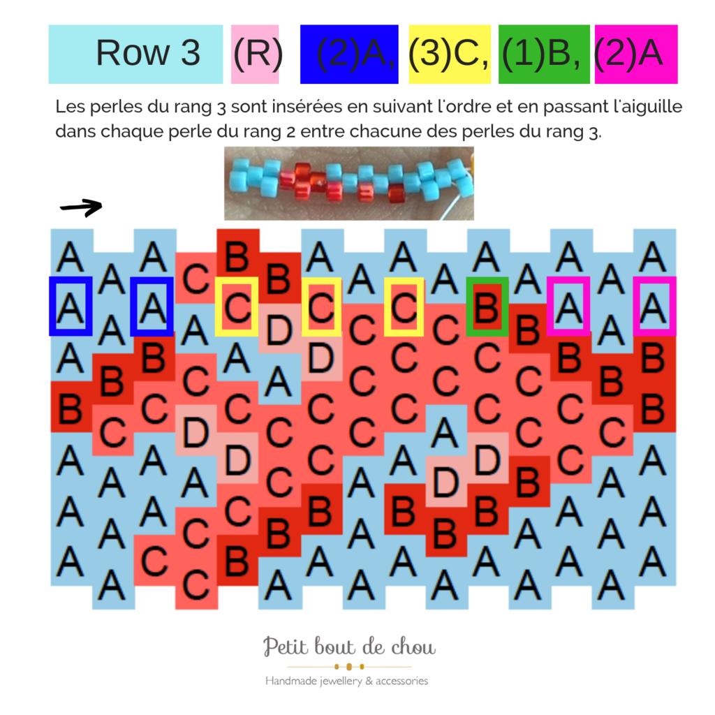 row 3 peyote word chart tutorial 2