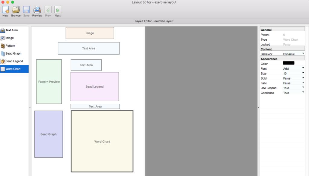 Screen Shot Bead tool 4 word chart 2