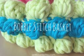 DIY: Bobble Stitch Crochet Basket