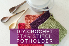 DIY Crochet Star Stitch Potholder