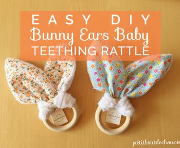 Title easter DIY bunny ears teething rattle