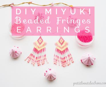 Title miyuki beaded fringes earrings