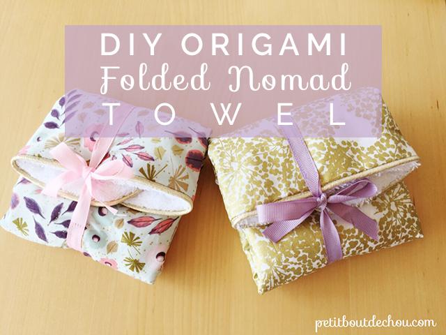 Title DIY origami folded nomad towel