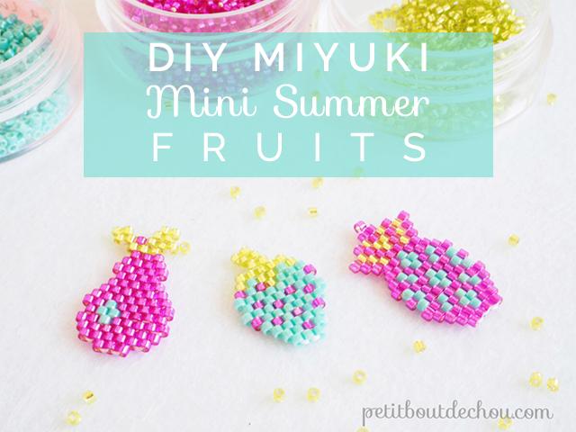 DIY Miyuki mini summer fruits