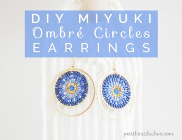 Title DIY Miyuki Ombre earrings