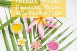 Title miyuki pattern frangipani