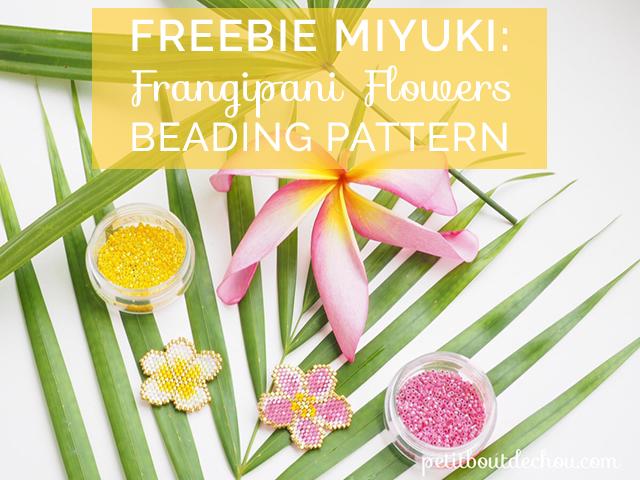 Freebie of the Week: Frangipani Flowers Miyuki Pattern