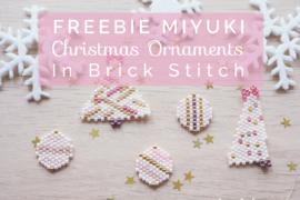 Christmas ornaments miyuki