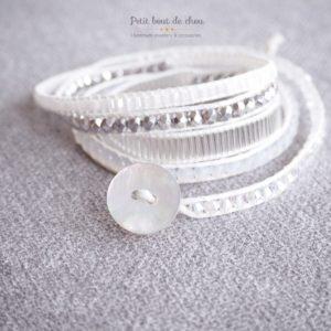 """Bracelet wrap """"NEIGE"""""""