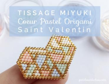 coeur pastel tissage miyuki