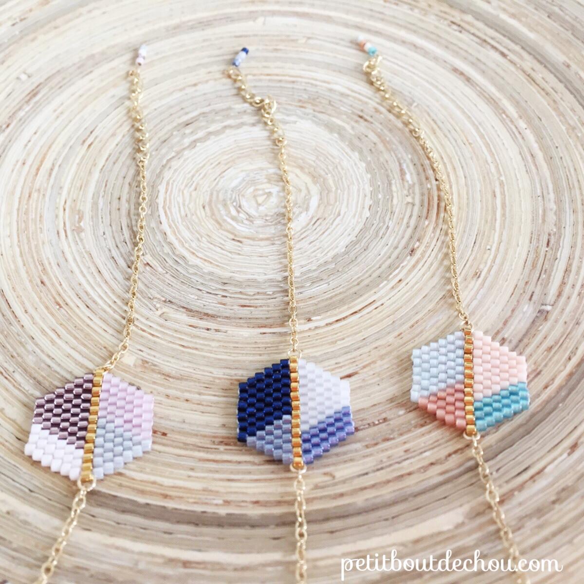 bracelet hexagone