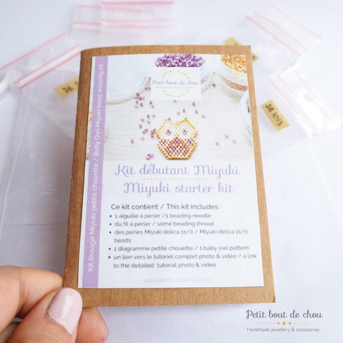 Mini kit tissage miyuki brick stitch