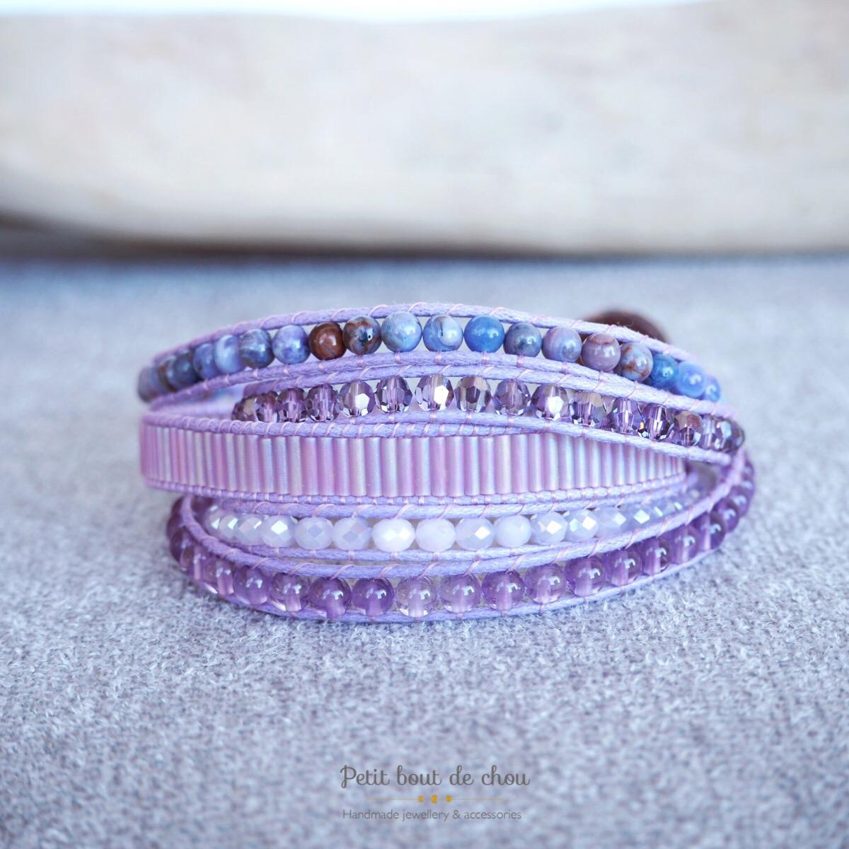 bracelet wrap amethyste