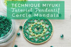 Titre cercle mandala miyuki