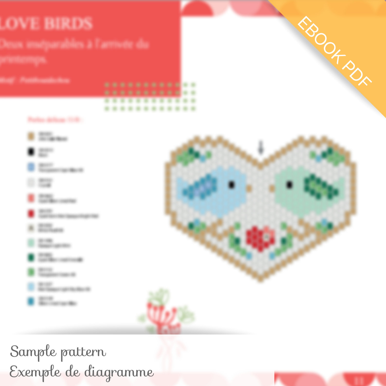 Winter Bobbin PDF format \u2013 PDF download Miyuki Delica/'s pattern \u2013 beading pattern