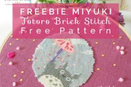 Title image totoro brick stitch